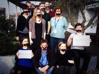 Mısır'da tutuklanan El-Cezire muhabirlerine destek