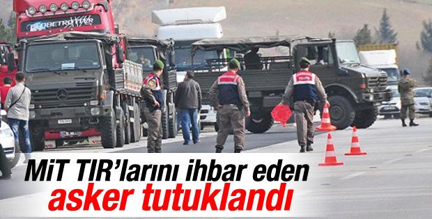 Hatay'da MİT'e ait TIR'ın durdurulması olayında tutuklama