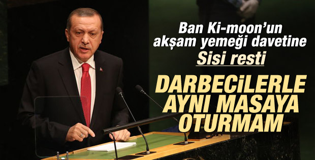 Erdoğan'dan Birleşmiş Milletler'de Sisi resti