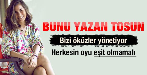 Modacı Zeynep Tosun: Bizi öküzler yönetiyor