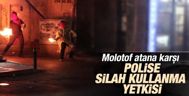 Molotof atana karşı polise silah kullanma yetkisi