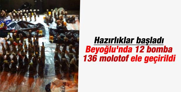 Beyoğlu'nda bomba ve molotof operasyonu