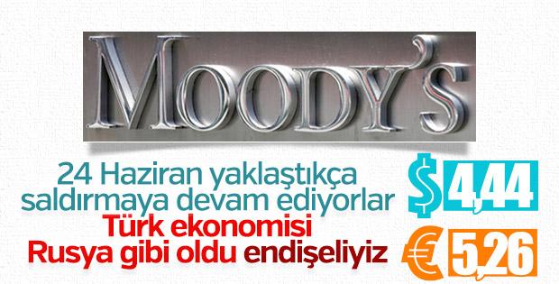 Moody's Türkiye için 'biraz endişeli'