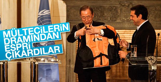 BM Genel Sekreteri Ban Ki-Moon Atina'da