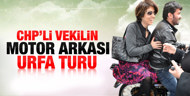 CHP'li Oranç'ın motosikletle Urfa turu