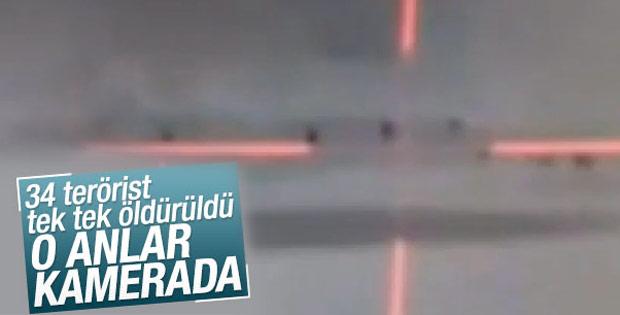 Şırnak'ta teröristlerin vurulma anı kamerada