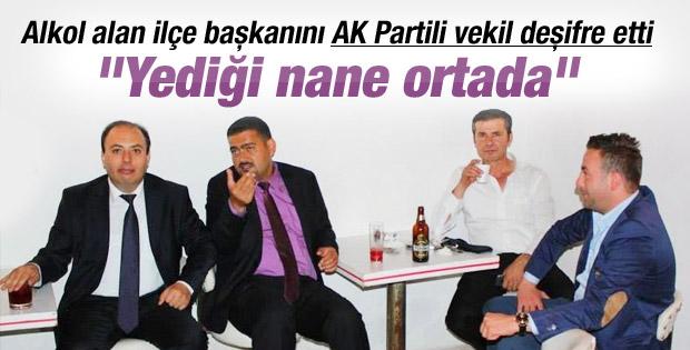 Ak Partili başkanın alkollü fotoğrafı krize neden oldu