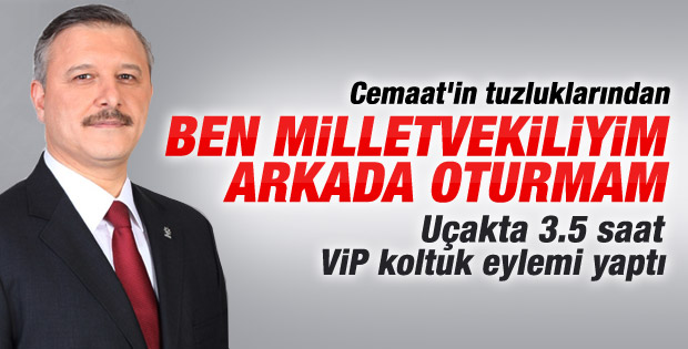 Muhammed Çetin'in VIP koltuk eylemi