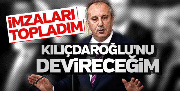 Muharrem İnce CHP'de genel başkanlığa aday
