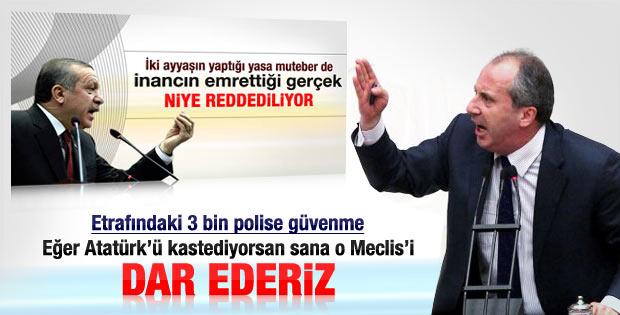 Muharrem İnce'den Başbakan'a tehdit: 3 bin polise güvenme