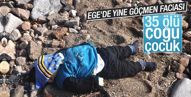 Çanakkale'de mülteci teknesi battı: 35 ölü