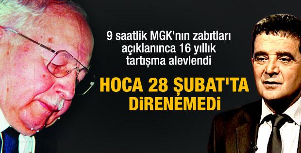Mümtazer Türköne: Erbakan darbeye direnemedi