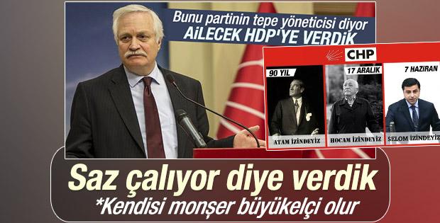 Demirtaş'a oy veren CHP'li Özçelik: İyi saz çalıyor