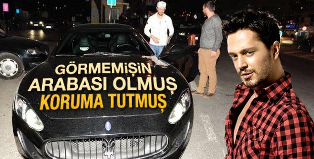 Murat Boz Maserati'sine koruma tuttu
