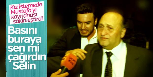 Muhabirleri gören Mustafa Ceceli sinirlendi