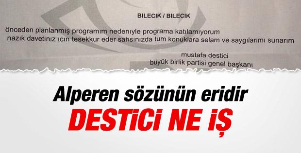 Mustafa Destici'nin Söğüt'e habersiz gittiği ortaya çıktı