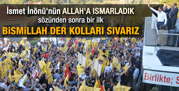 Mustafa Sarıgül: Bismillah der kolları sıvarız