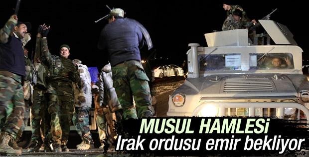 Irak ordusu Musul'u geri alımak için ilk adımı attı
