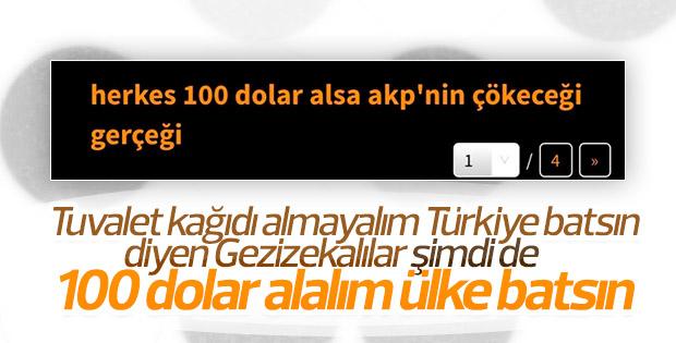 Herkes 100 dolar alsın Türkiye batsın istiyorlar