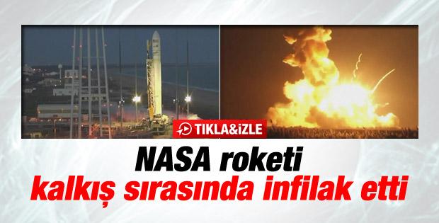 NASA roketi Antares kalkış sırasında infilak etti - İzle