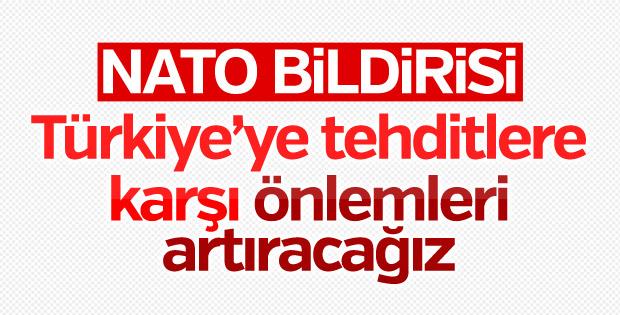 NATO sonuç bildirisi: Türkiye'nin yanındayız