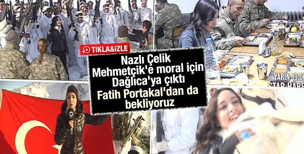 Nazlı Çelik Mehmetçik için Dağlıca'ya çıktı