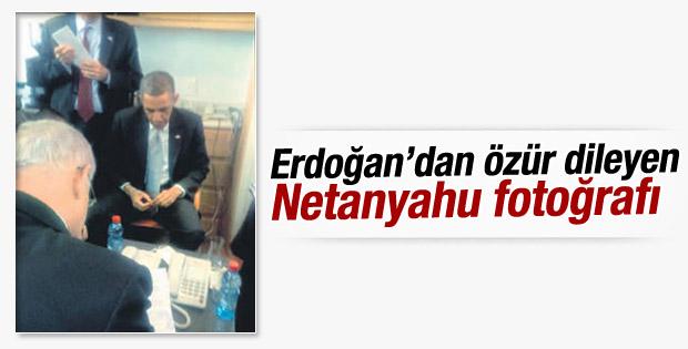 Erdoğan'dan özür dileyen Netanyahu fotoğrafı