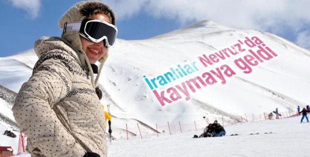 Nevruz tatilini fırsat bilen İranlılar Palandöken'e geldi