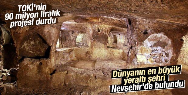 Nevşehir'de dünyanın en büyük yeraltı şehri keşfedildi İZLE