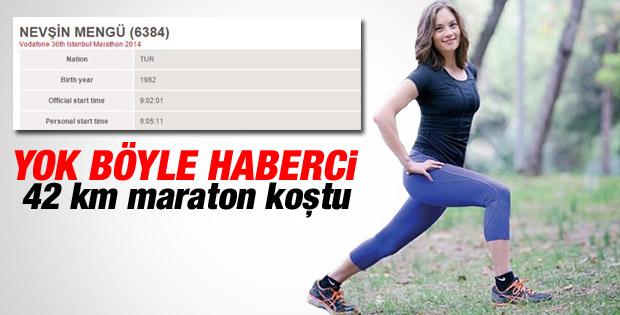 Nevşin Mengü İstanbul Maratonu'nda koştu