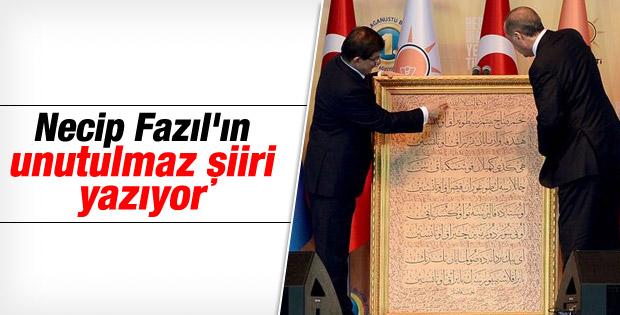 Davutoğlu'ndan Erdoğan'a sürpriz hediye İZLE