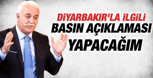 Nihat Hatipoğlu Diyarbakır adaylığıyla ilgili konuştu