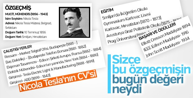Nikola Tesla'nın özgeçmişi