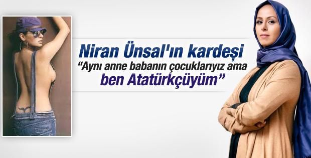 Başörtüsü takan Niran Ünsal'a en sert tepki kız kardeşinden