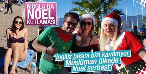 Muğla'da Noel kutlaması