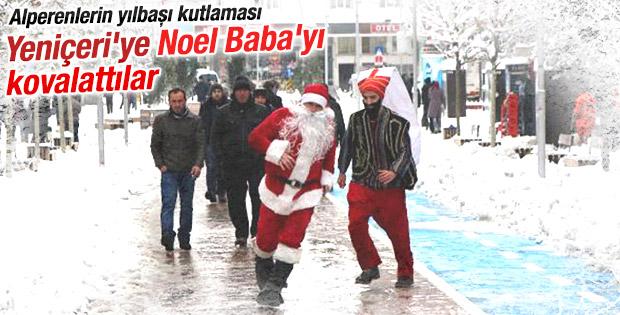 BBP'liler Yeniçeri'ye Noel Baba'yı kovalattı İZLE