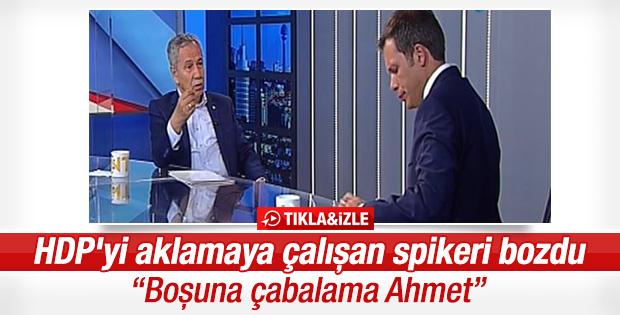 Bülent Arınç NTV sunucusunu bozdu