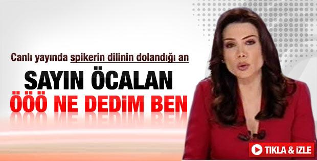 NTV spikeri Öcalan konusunda kararsız kaldı