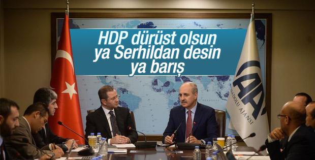Numan Kurtulmuş'tan HDP'ye tepki