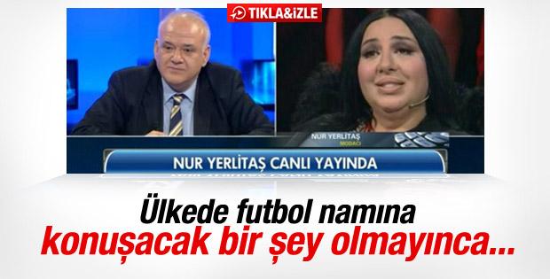 Nur Yerlitaş Beyaz Futbol'a telefonla bağlandı
