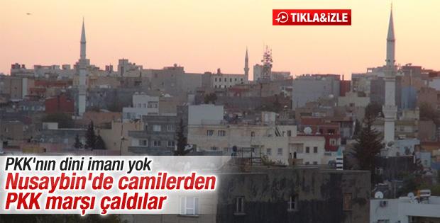 Nusaybin'de cami hoparlörlerinden PKK marşı çaldılar