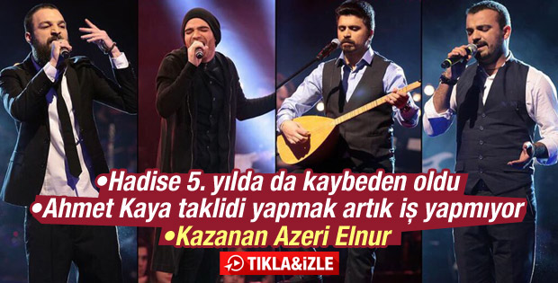 O Ses Türkiye'nin şampiyonu Elnur Huseyinov