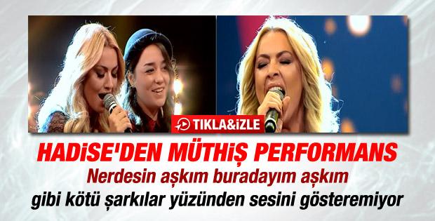 O Ses Türkiye'de Hadise'den Christina Aguilera şarkısı