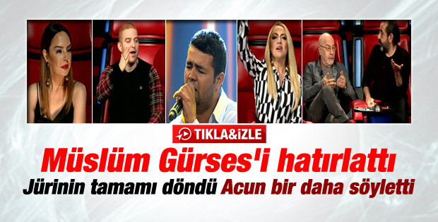 O Ses Türkiye'de Müslüm Gürses şarkısı mest etti - İzle