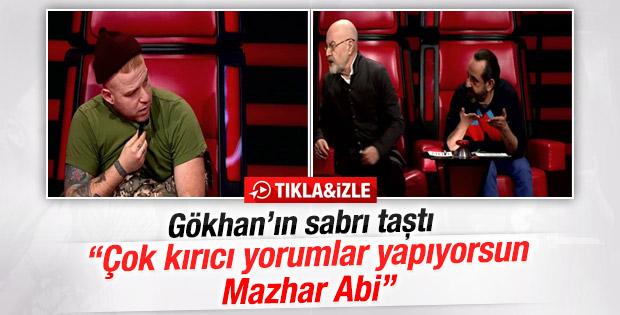 O Ses Türkiye'de Gökhan Özoğuz'la Mazhar Alanson arasında gerginlik