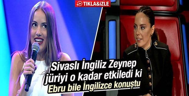 O Ses Türkiye'de İngiliz Zeynep Ebru Gündeş'i mest etti