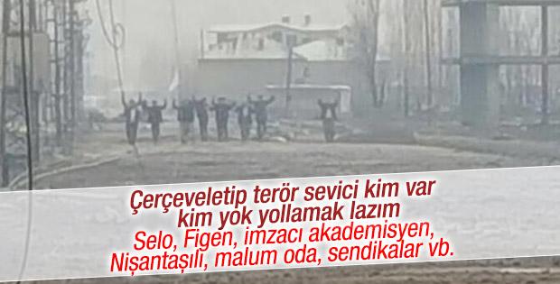 Yüksekova'da PKK'lıların teslim olduğu an