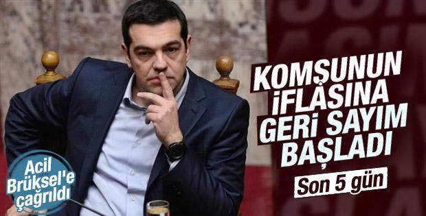 Yunanistan 5 gün içinde iflas edecek
