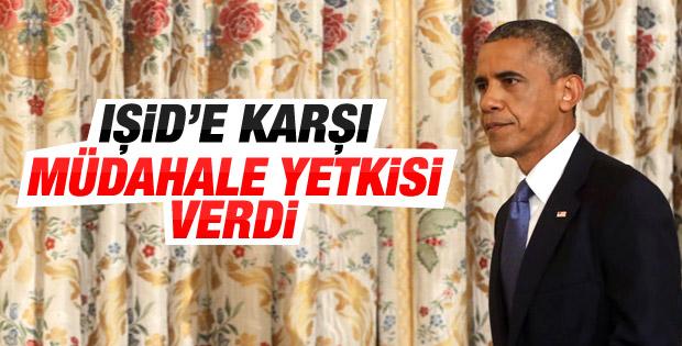 Obama IŞİD'e müdahale yetkisi verdi