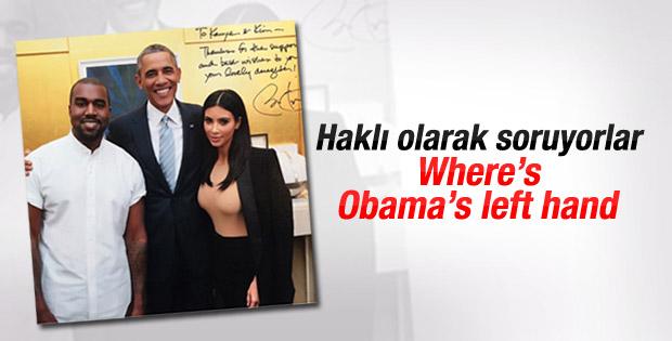 Obama ile Kardashian'ın fotosu tartışma yarattı